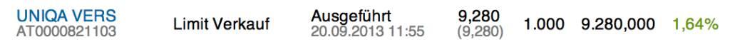 26. Trade für https://www.wikifolio.com/de/DRASTIL1: Verkauf 1000 Uniqa zu 9,28. Kleines Trading vor der Transaktion. Im Re-IPO sollte man jedenfalls zugreifen. Wie ich das für das Wikifolio mache, weiss ich noch nicht., © wikifolio WFDRASTIL1 (23.09.2013)