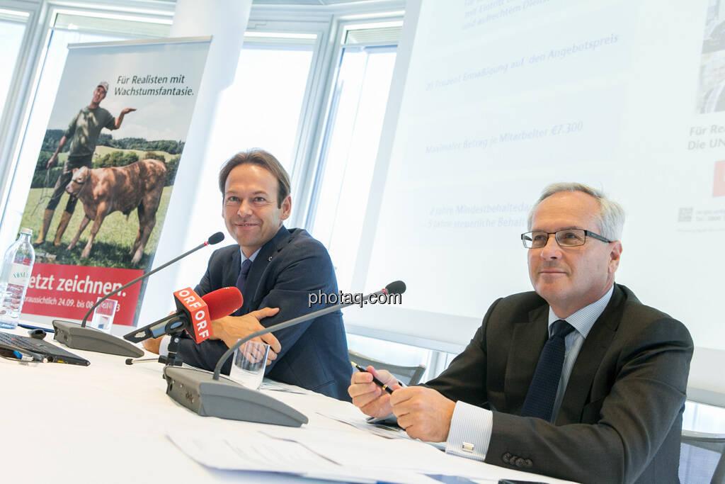 Andreas Brandstetter, CEO UNIQA Insurance Group AG, Hannes Bogner, CFO UNIQA Insurance Group AG  , © finanzmarktfoto.at/Martina Draper (24.09.2013)
