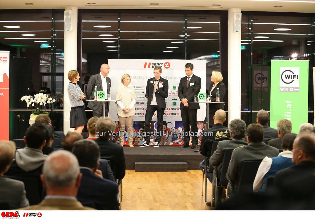 Sandra Baierl, Hans Peter Trost (ORF), Kate Allen, Guenter Matzinger (AUT), Horst Nussbaumer und Anna Maria Hochhauser (WKO) (Foto: GEPA pictures/ Mario Kneisl) (25.09.2013)