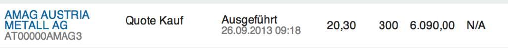 28. Trade für https://www.wikifolio.com/de/DRASTIL1: Aufstockung um 300 Amag bei 20,30 - ich glaube an ein Comeback bei rund 21 Euro, © wikifolio WFDRASTIL1 (26.09.2013)