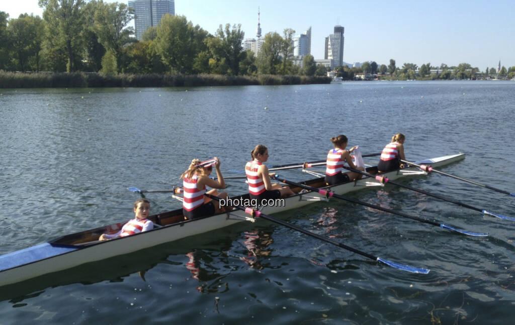 Vierer mit Steuerfrau, Alte Donau (28.09.2013)