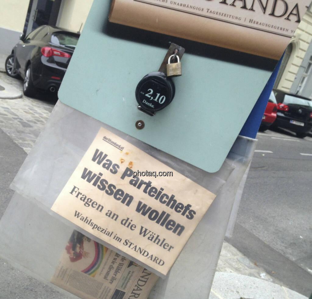 Der Standard am Wahltag (29.09.2013)
