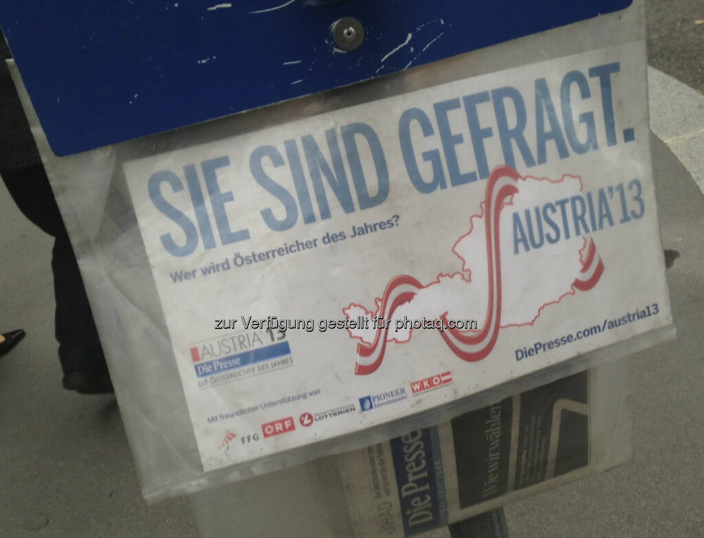 Die Presse am Wahltag (29.09.2013)