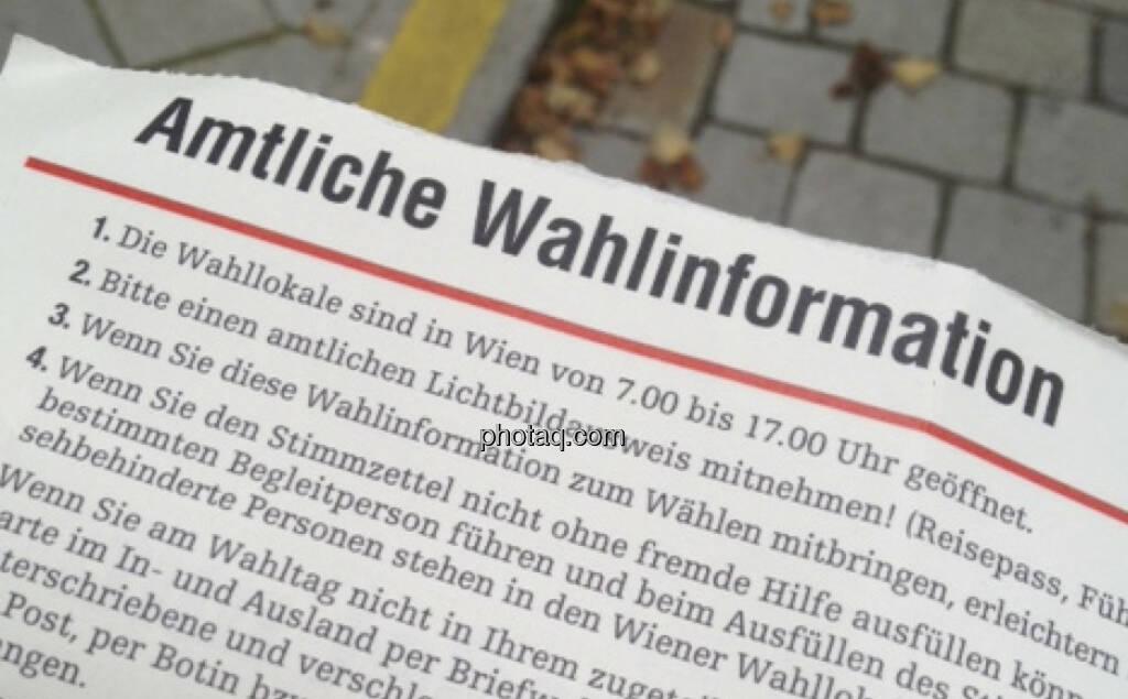Amtliche Wahlinformation (29.09.2013)