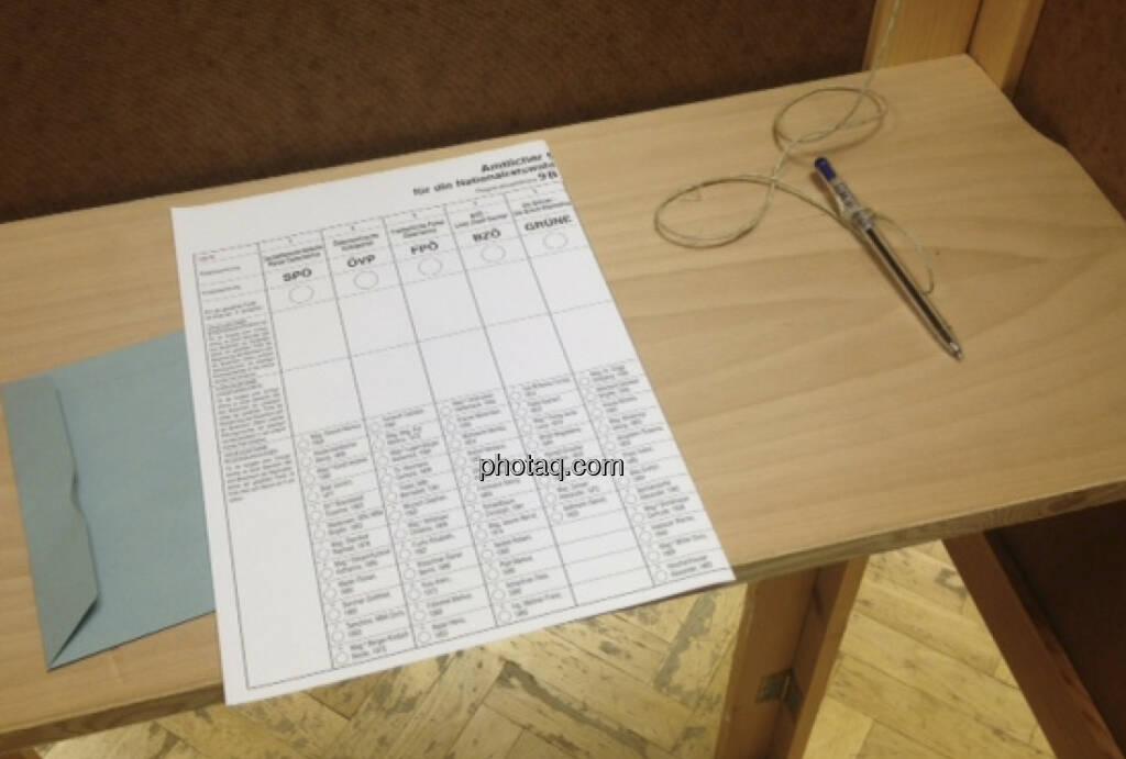 Wahlzettel, siehe auch http://www.christian-drastil.com/2013/09/26/wahl_2013_acht_parteien_im_borse-qa_borsefreundlich_sind (29.09.2013)
