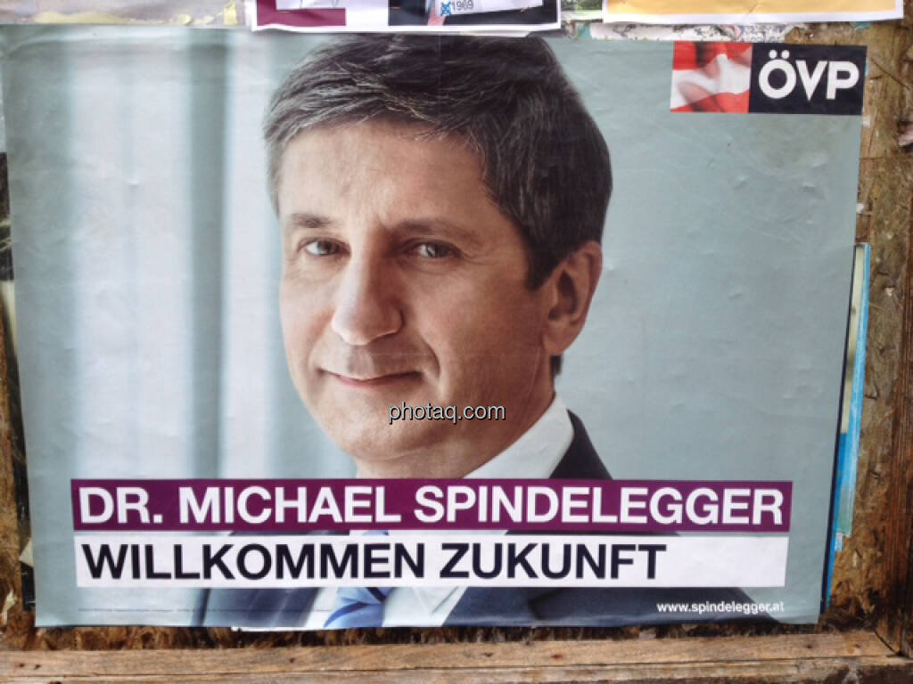 Wahlplakat ÖVP, Michael Spindelegger (29.09.2013)