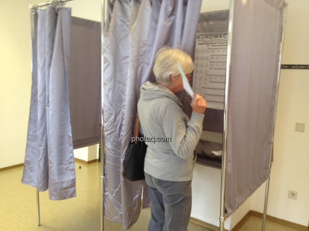 vor der Wahlkabine (29.09.2013)