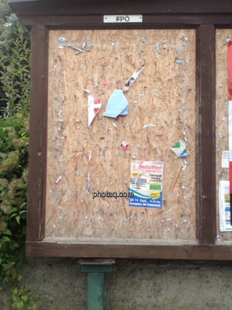 (fast) leere FPÖ Plakatwand (29.09.2013)