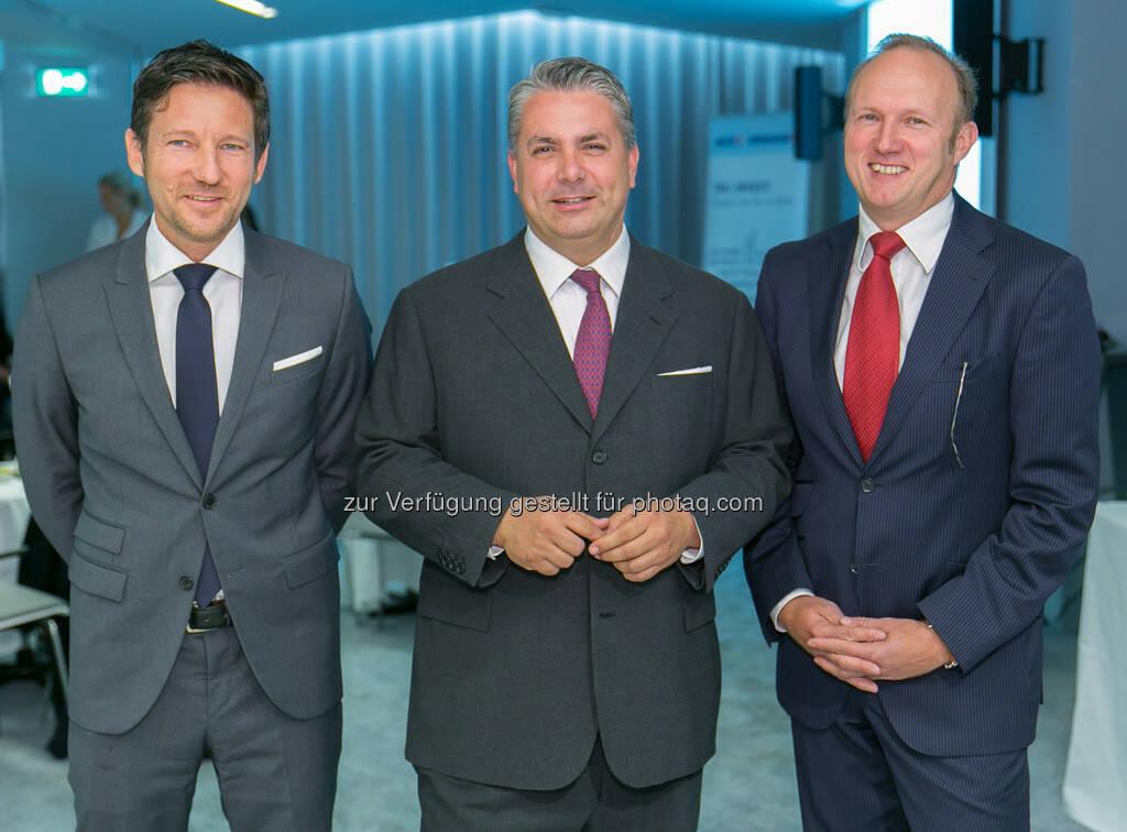 Thomas Schaufler (Erste Asset Management Vorstand), Peter Bosek (Erste Bank Österreich Vorstand), Heinz Bednar (Erste-Sparinvest) Vorstandsvorsitzender, (C) Erste Bank, © Michaela Mejta / finanzmarktfoto.at (30.09.2013)