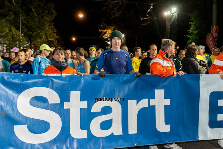 Erste Bank Vienna night run 2013, Christian Drastil am Start