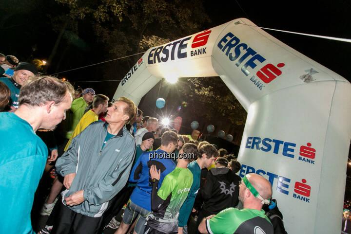 Erste Bank Vienna night run 2013, Startbereich, Läufer