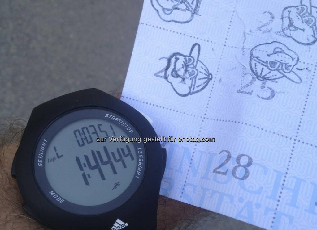 25 kurzweilige Runden a 850m sind auch ein Halbmarathon, Spass hats gemacht (05.10.2013)