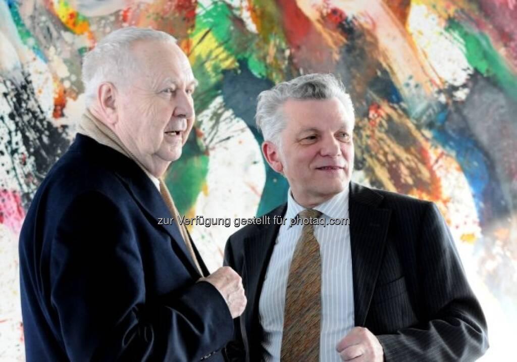 Franz Grabmayr mit Wilhelm Weiss, © Strabag Kunstforum (05.10.2013)