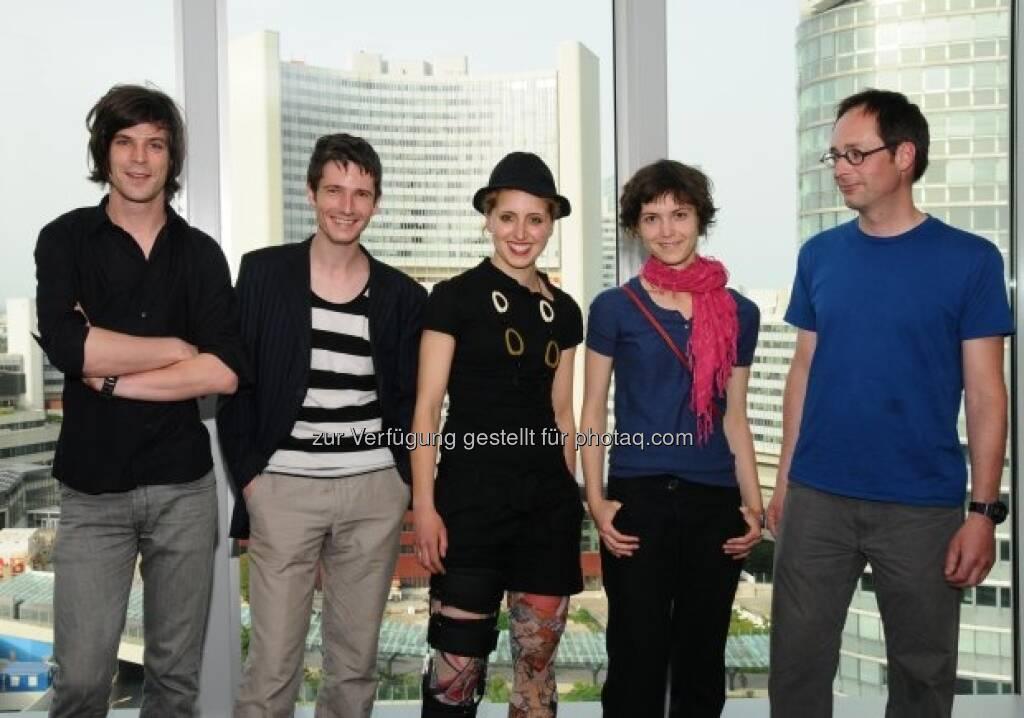 Bernhard Buhmann, Markus Proschek, Nieves Salzmann, Julia Maurer, Felix Malnig, © Strabag Kunstforum (05.10.2013)