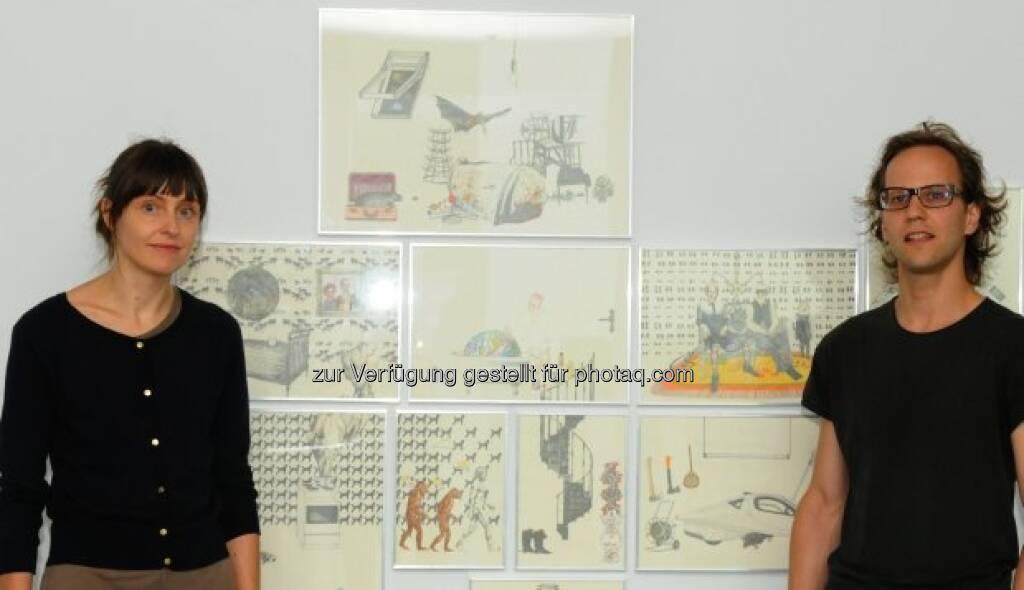 Künstlerpaar Payer / Gabriel, © Strabag Kunstforum (05.10.2013)