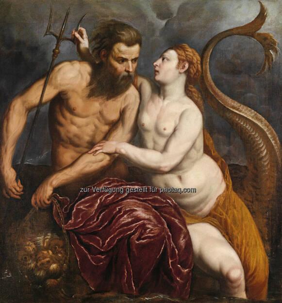 Paris Bordon (1500 - 1571) Neptun und Amphitrite, Öl/Leinwand, 106 x 98,5 cm  Schätzwert € 100.000 - 150.000  Auktion 15. Oktober 2013 , © Dorotheum (10.10.2013)