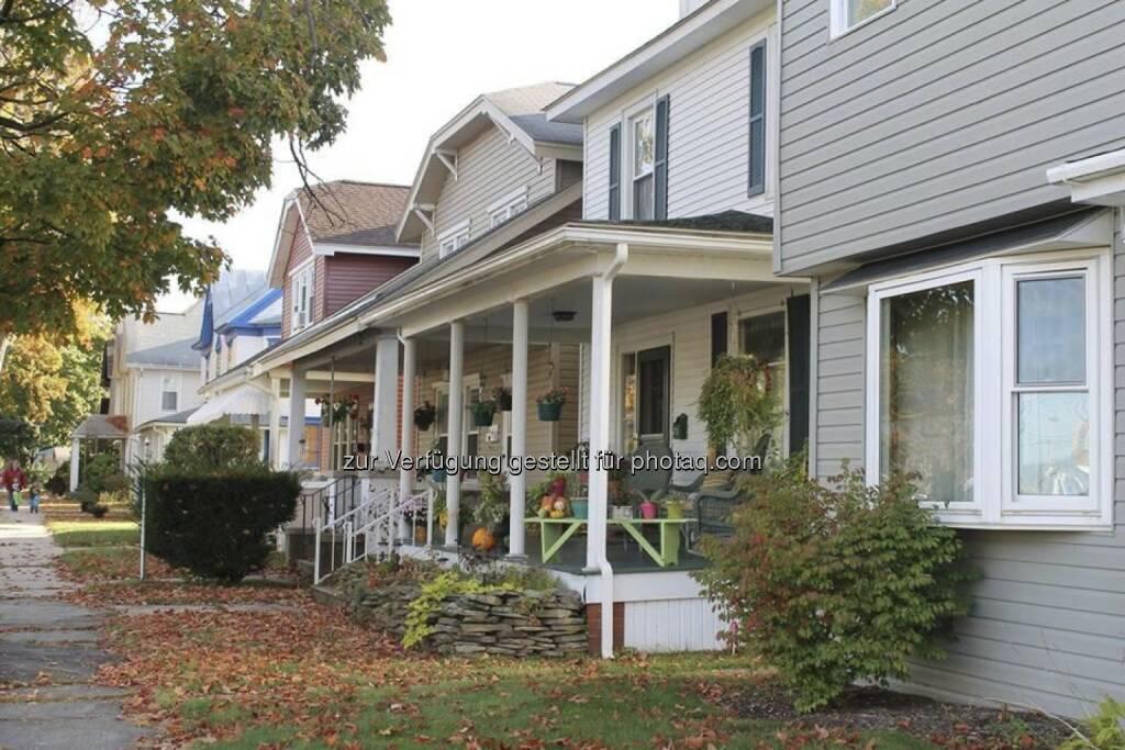 Typische US-Häuser in Pennsylvania, Immobilien, USA (10.10.2013)
