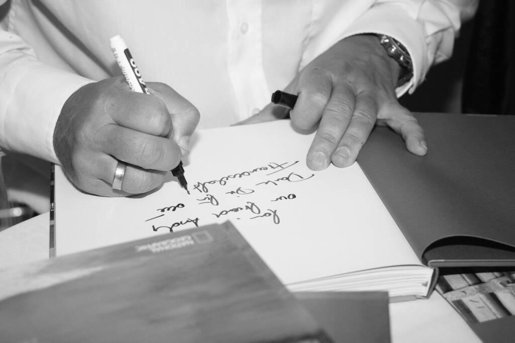 Unterschrift, Widmung, Signatur, © www.manfredbaumann.com (10.10.2013)