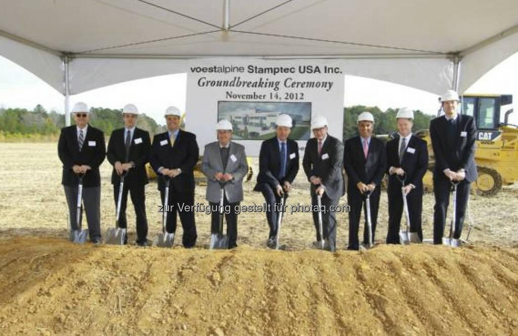 voestalpine mit Spatenstich für das neue US-Werk seiner Metal Forming Division in Cartersville, Georgia (c) voestalpine (15.12.2012)