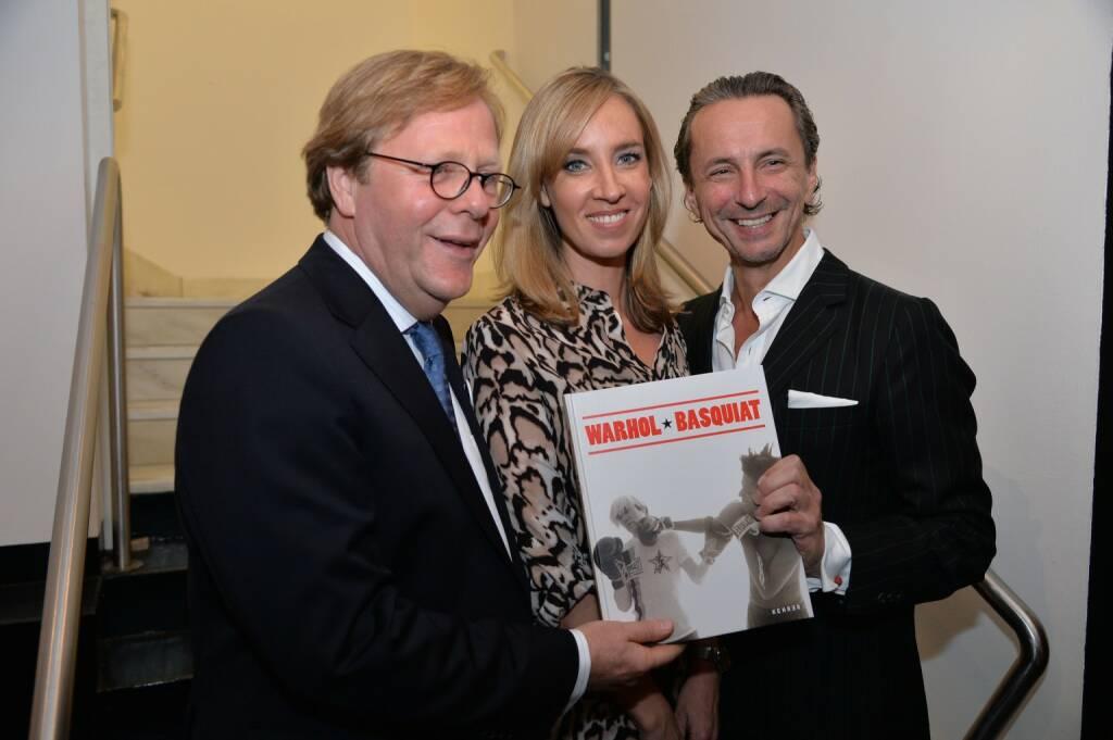 Willibald Cernko (Bank Austria), Zeit im Bild- Moderatorin Nadja Bernhard, Profil-Herausgeber Christian Rainer, © leisure.at/Christian Jobst (16.10.2013)