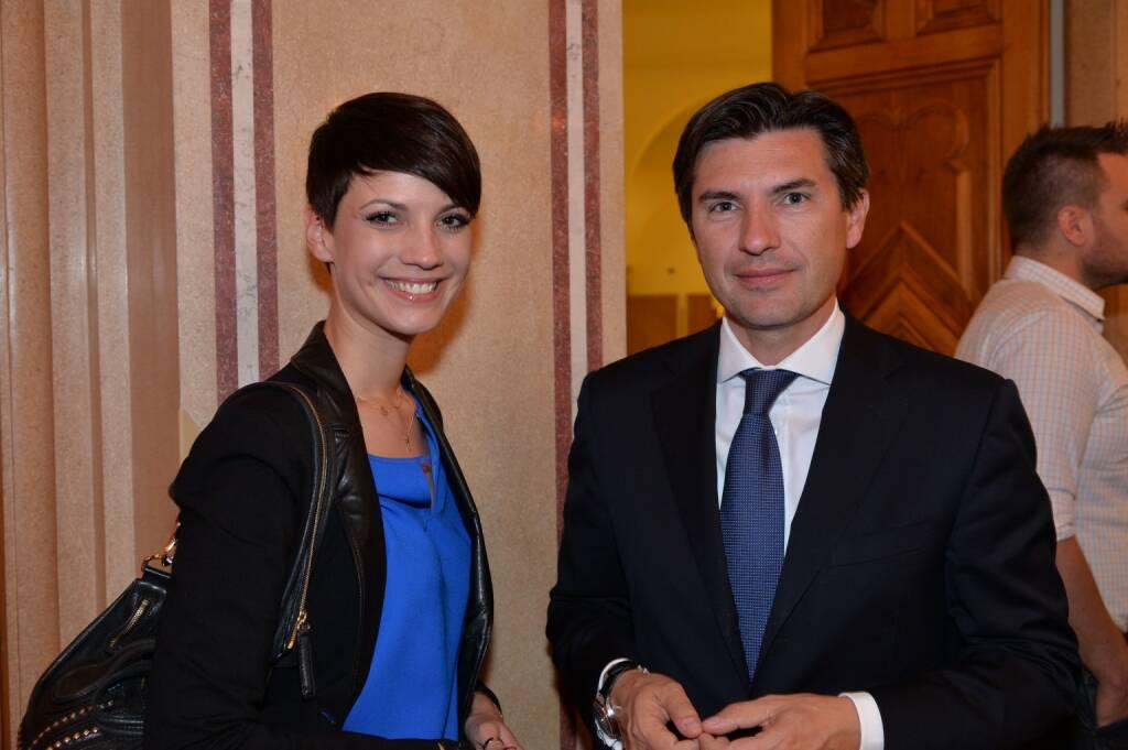 Felicitas Matern (Fotografin), Robert Zadrazil (Bank Austria), © leisure.at/Christian Jobst (16.10.2013)