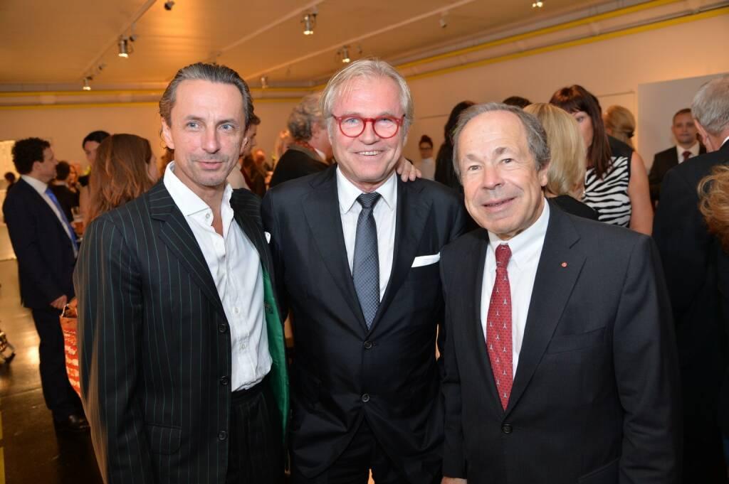 Profil-Herausgeber Christian Rainer, Unternehmer Konstantin Klien, Bank Austria-Aufsichtsrat Erich Hampel, © leisure.at/Christian Jobst (16.10.2013)
