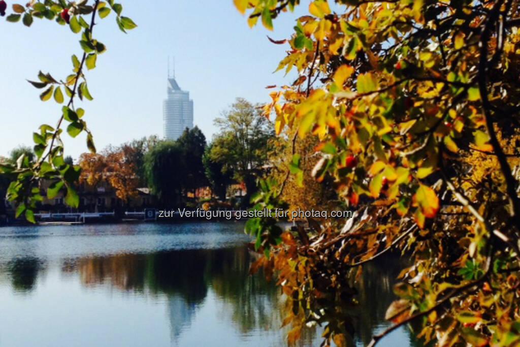 Millenniumtower, herbstlich, Wasser, © Martina Draper / Diverse (16.10.2013)