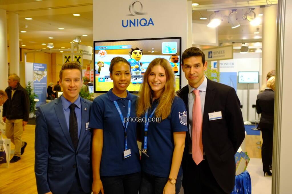 Uniqa auf der Gewinn Messe 2013: Michael Oplustil und Team (17.10.2013)