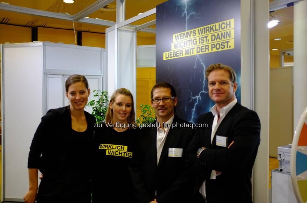 Post (u.a. Anna Niederhofer) auf der Gewinn Messe 2013 (17.10.2013)
