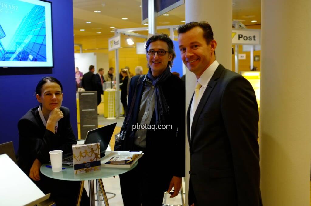 Bettina Schragl (Immofinanz), Josef Chladek, Gerhard Kürner (voestalpine): Inspiration für boerse-social.com (17.10.2013)