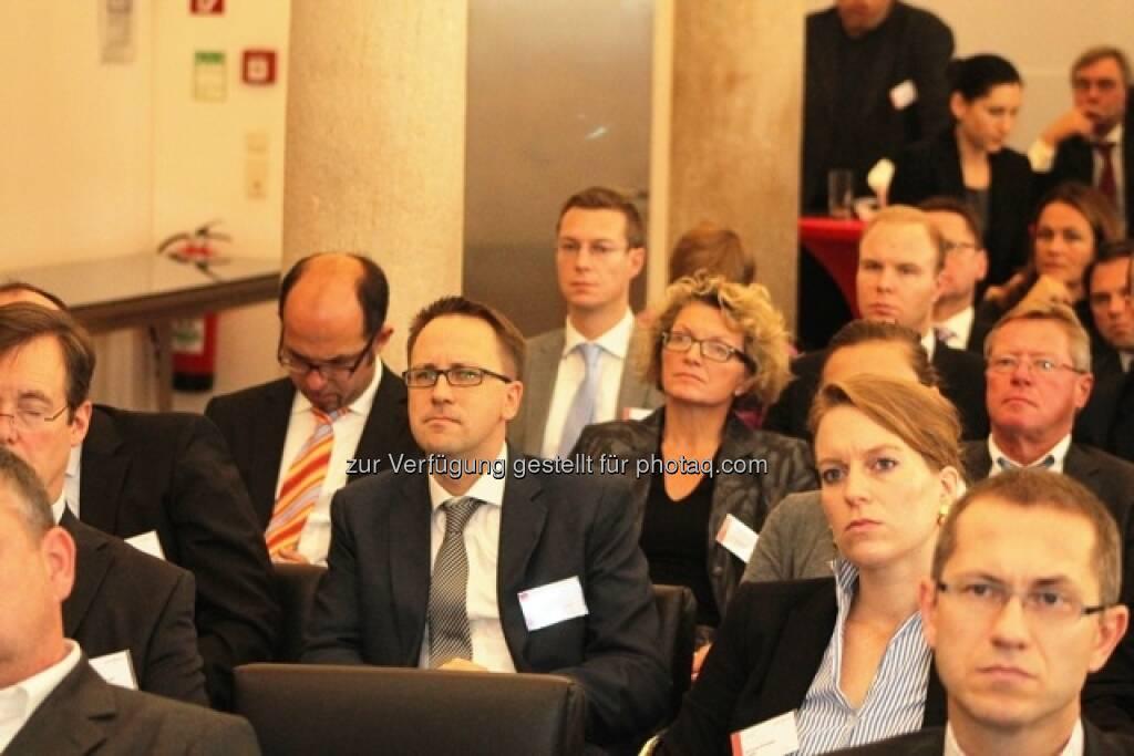 Small Cap Day, Wiener Börse, November 2012, im Publikum hier u.a. Stefan Maxian und Günther Artner, © Wiener Börse (15.12.2012)