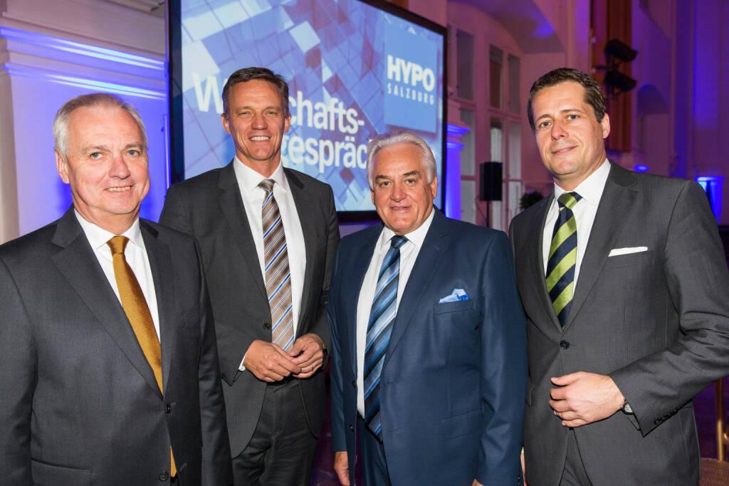Hypo Wirtschaftsgespräche 2013 in der Residenz. Foto: Andreas Kolarik, 17.10.13 Reinhard Salhofer, Karsten Benz, Günther Ramusch, Günter Gorbach (18.10.2013)