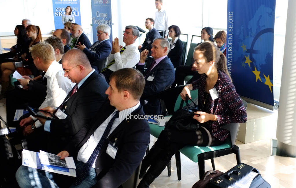 IVA / EuroFinUse-Konferenz im Ringturm: Michael Knap (IVA) und Ulrike Haidenthaller (Aktienforum) unter den Gästen (18.10.2013)