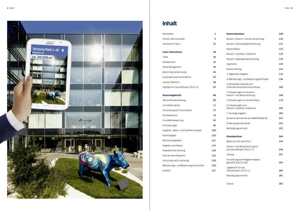 Inhaltsverzeichnis, © Immofinanz (18.10.2013)