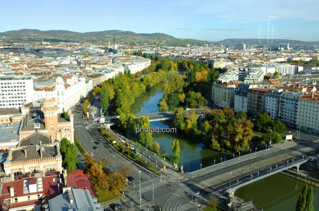 Donaukanal bis ca. Friedensbrücke, dort ist das Office von http://www.finanzmarktfoto.at (18.10.2013)