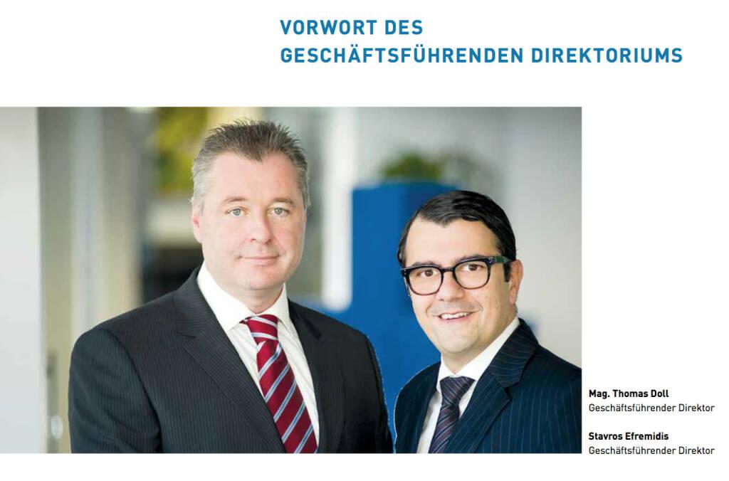 Thomas Doll (Geschäftsführender Direktor), Stavros Efremidis (Geschäftsführender Direktor), © conwert (21.10.2013)