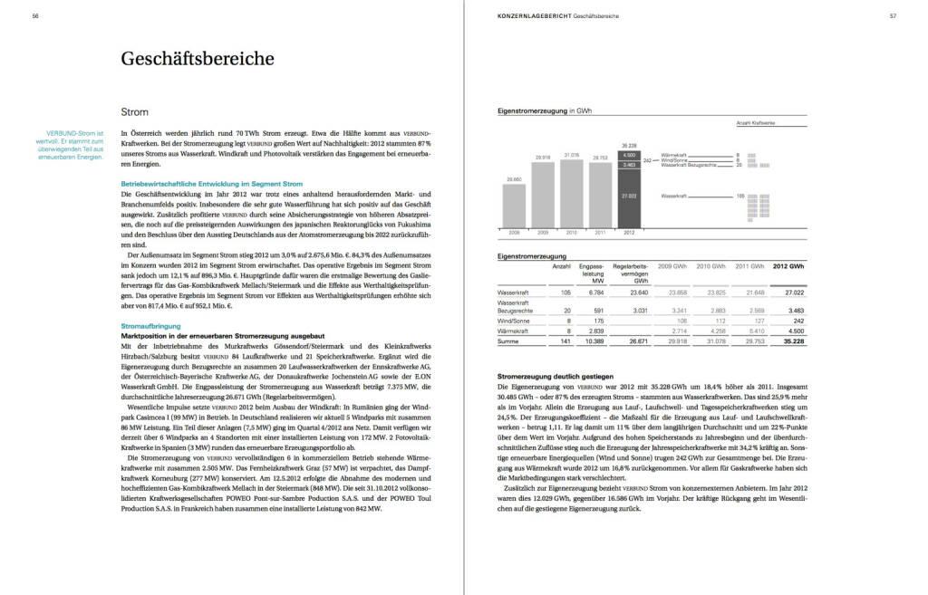 Geschäftsbereiche, © Verbund (22.10.2013)