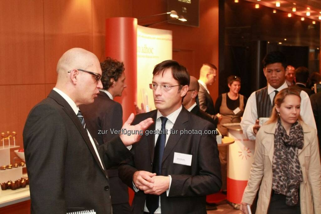 Karl Brauneis (WIener Börse), Roland Neuwirth (Salus Alpha), © C.I.R.A. (22.10.2013)