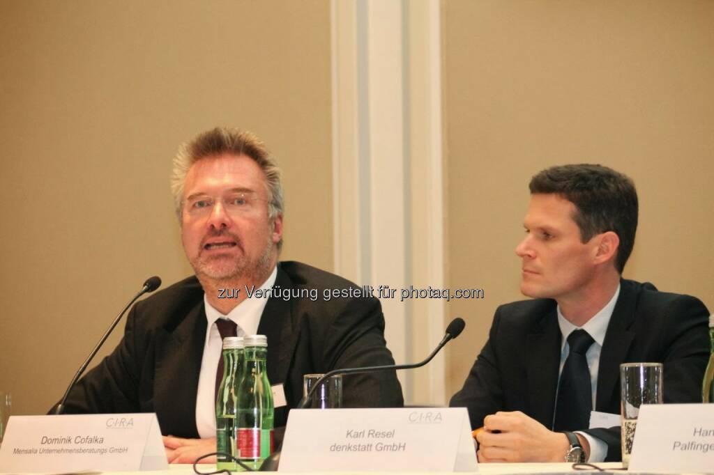 Dominik Cofalka (Mensalia), Karl Resel (denkstatt) C.I.R.A.-Jahreskonferenz 2013, © C.I.R.A. (22.10.2013)