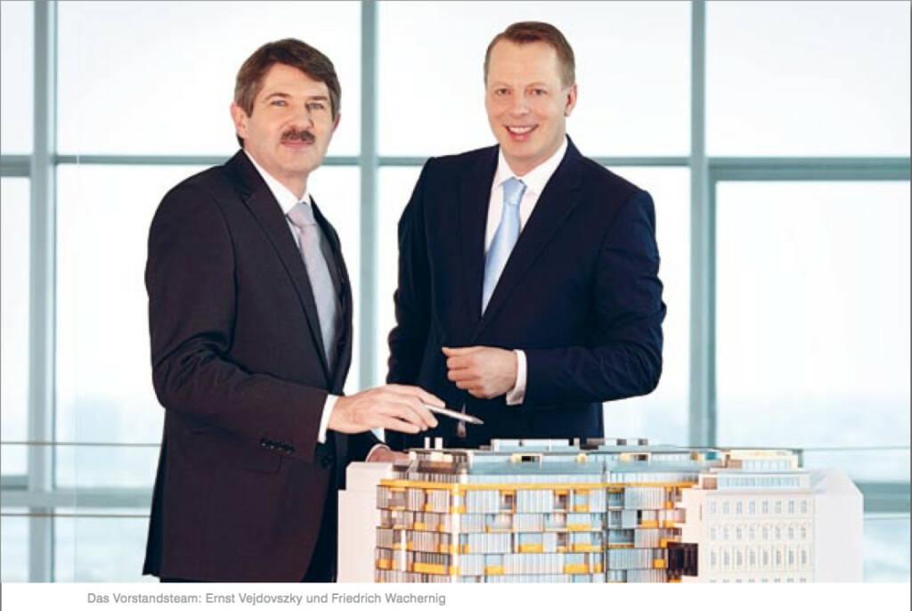 Vorstandsteam: Ernst Vejdovszky und Friedrich Wachernig, © S Immo (25.10.2013)