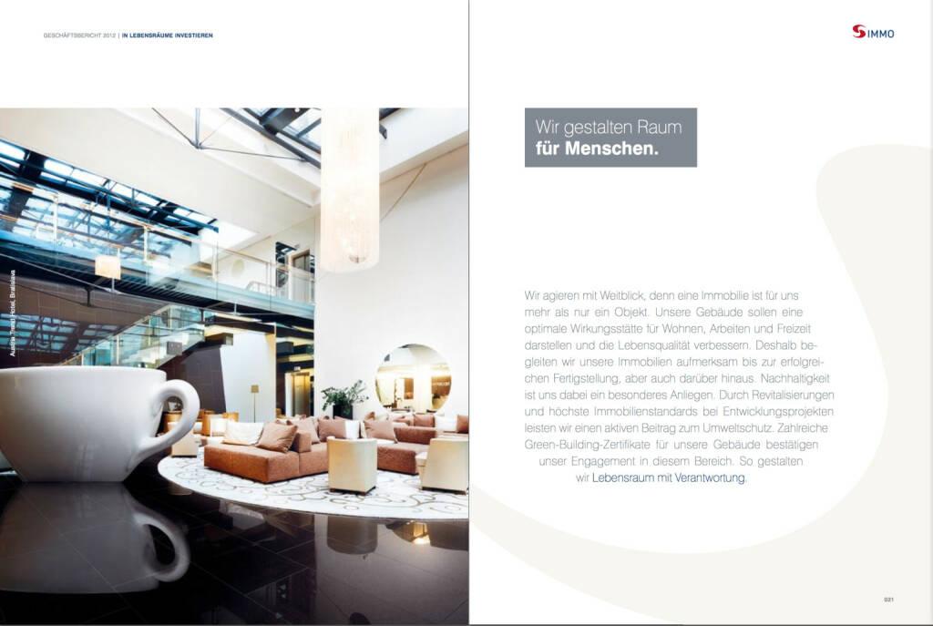 Aus dem s immo gesch ftsbericht 2012 for Raum gestalten app