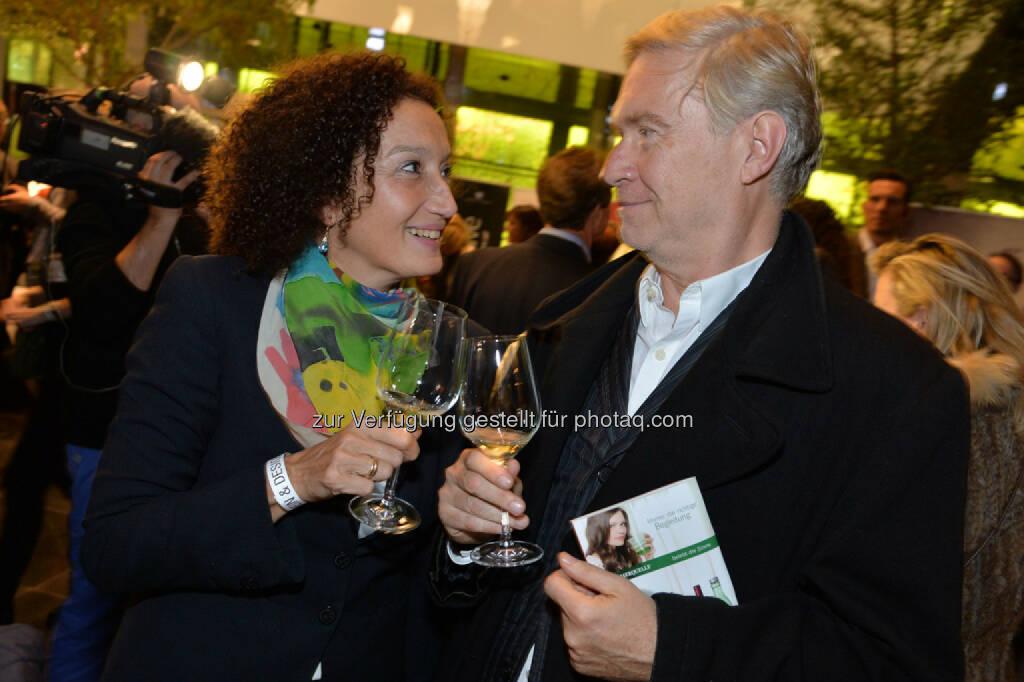 Schauspielerin Konstanze Breitebner, Herausgeber Peter Pelinka, © leisure.at/Christian Jobst (25.10.2013)