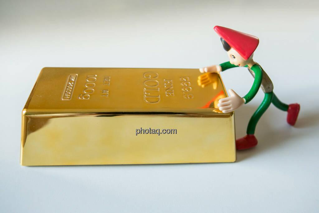 Sparefroh spart Gold, © Martina Draper (26.10.2013)