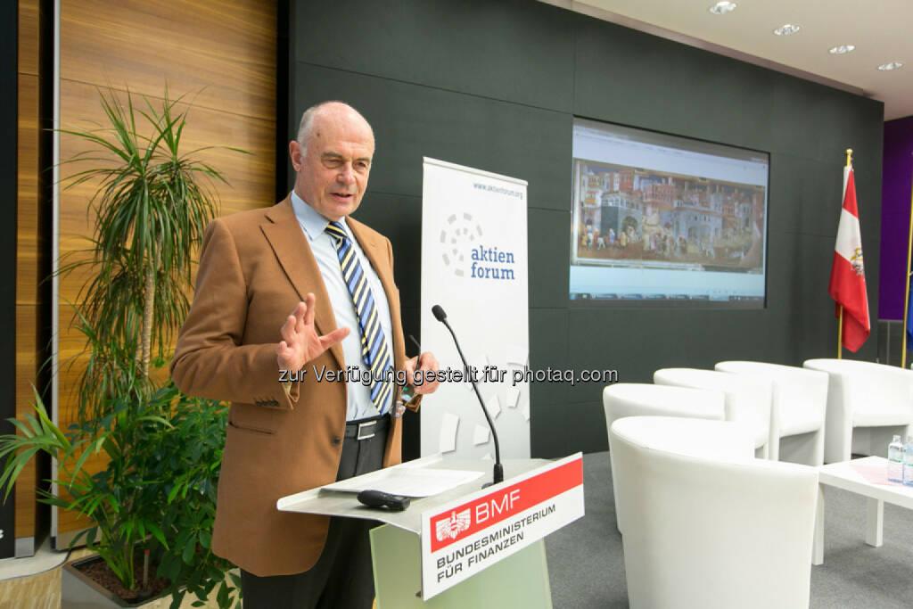 Wolfgang Nolz, Vorsitzender, Österr. Arbeitskreis Corporate Governance, BMF, © Martina Draper für das Aktienforum (30.10.2013)
