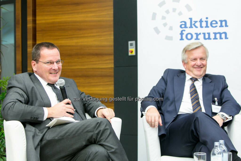 Michael Eberhartinger, BMF, Rudolf Kemler, Vorstand Industrieholding AG, © Martina Draper für das Aktienforum (30.10.2013)