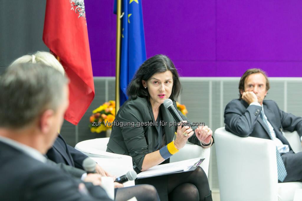 Brigitta Schwarzer, GrECo International AG,  Christian Nowotny, Institut für Zivil- und Unternehmensrecht, WU Wien, © Martina Draper für das Aktienforum (30.10.2013)