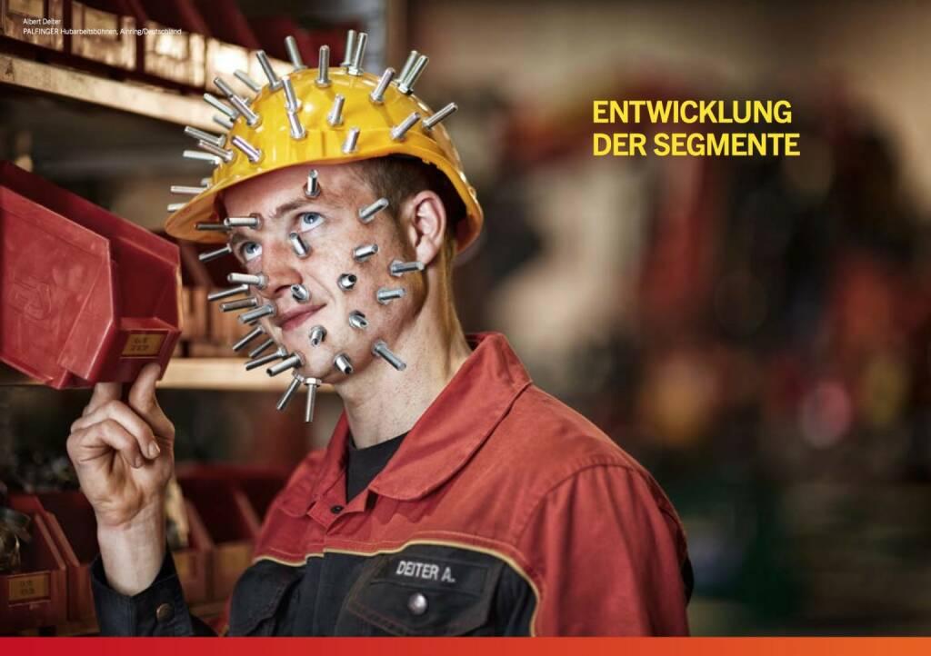 Albert Deiter, Hubarbeitsbühnen, Schrauben, Enwicklung der Segmente, © Palfinger (30.10.2013)