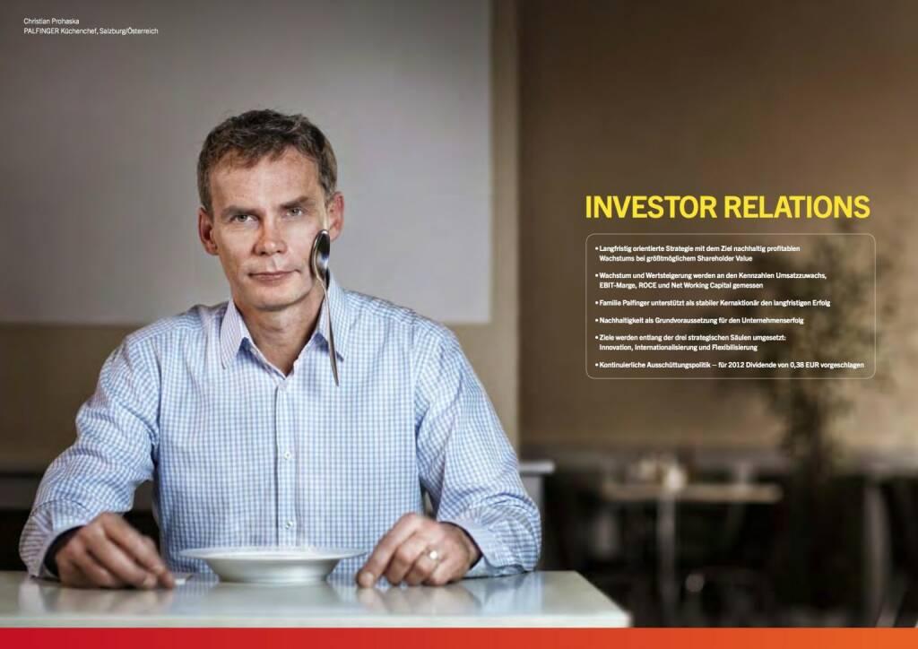 Christian Prohaska, Küchenchef, Löffel, Investor Relations, © Palfinger (30.10.2013)