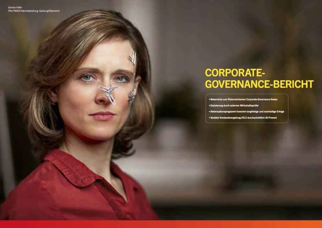 Sandra Höfer, Rechtsabteilung, Corporate Governance Bericht, © Palfinger (30.10.2013)