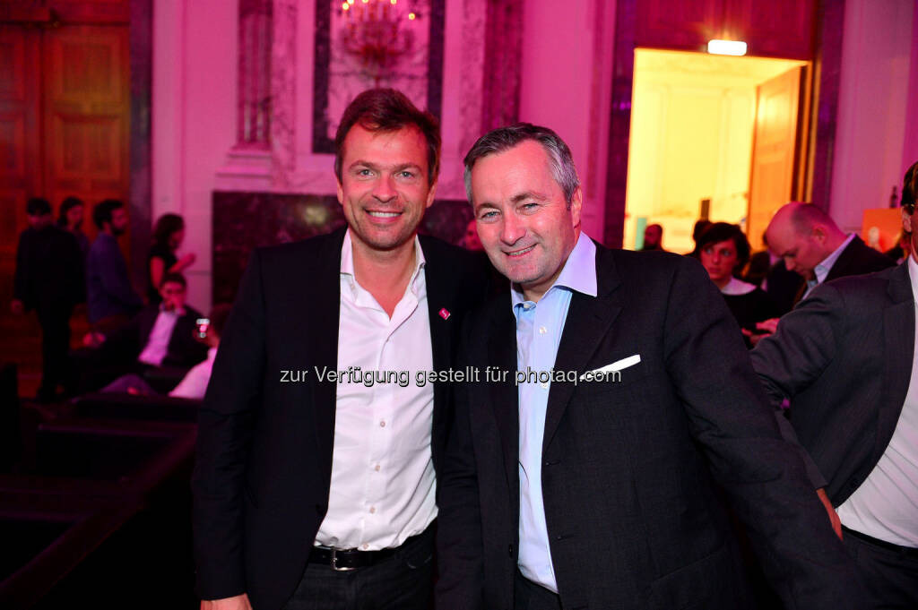 MarkusBreitenecker & Hannes Ametsreiter (CEO Telekom Austria) (Bidl: haraldartner.com) (31.10.2013)